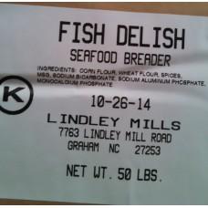 Fish Delish Seafood Breader 50 lb- Lindley Mills